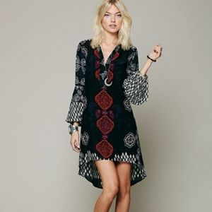Free People | Peacemaker Black & Red Tunic Dress